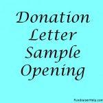 Donation Letter Sample Opening
