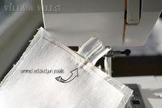 Villa ja Villa: DIY meikkipussi tai pussukka (versio 2) Diy Bags Purses, Villa, Villas