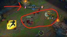 Vayne triple kill almost a penta league of legends (First clip)