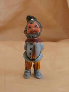 Vintage Hong Kong Elf or Gnome Ornament Cute Hong Kong Plastic, Bearded Fellow with Hat http://etsy.me/2Fb86Dy #vintage #collectibles #christmas #gnome #elf #plastic #retro #vintagechristmas #christmasornament