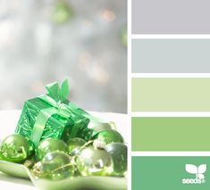 Christmas Greens. #colors #palettes #combos