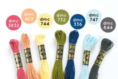 Great Combinations! jwt DMC Floss Color Combos from wildolive. Great Combinations! jwt