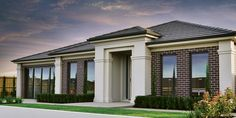 Bryan & Petersen Quality Builders - Ballarat and Warrnambool French Country Houses Exterior, Country Home Exteriors, Country Modern Home, Dream House Exterior, Exterior House Colors, Interior Exterior, Flat Roof House, Facade House, House Front