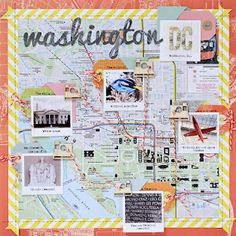 Washington DC travel scrapbook page