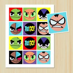 INSTANT DOWNLOAD Teen Titans Go Birthday by ChenillePartyDecor, $5.99
