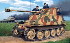Sd.Kfz.132 Marder II Ausf. D 76,2-мм противотанковая САУ РаК36(r) на базе танка Pz II