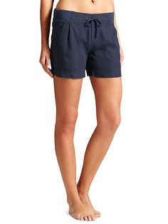 Linen Creston Short - The breathable linen short with a beyond-flattering wide waistband sure to be a staple in your warm weather wardrobe.