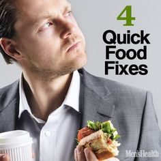 The old American diet has stripped vital nutrients from our food, trained our bodies to store fat, and kept us hungry and unhappy. But it doesn't have to be that way. Here are four solutions that will trim flab from our bodies, improve our emotional well-being, and cut down our impact on the environment. http://www.menshealth.com/nutrition/4-quick-food-fixes?cid=soc_pinterest_content-nutrition_aug14_4quickfoodfixes