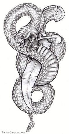 Snake Tattoo Design - see more designs on thebodyisacanvas.com