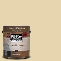 BEHR Premium Plus Ultra, 1-Gal. #UL180-11 Lemon Drop Interior Flat Enamel Paint, 175001 at The Home Depot - Tablet