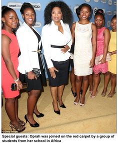 @Oprah Winfrey and some of her students at Essence Black Women in Hollywood Awards.