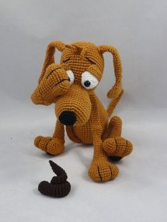 45.00$  Watch now - http://ali3mj.worldwells.pw/go.php?t=32785693498 - Amigurumi Crochet Doug the Dog 45.00$