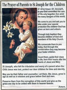 Love this prayer I love St. Joseph. The Lord allowed Himself to be subject to him during His formative years.