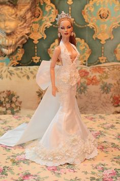 "New wedding dress  for  American model 22"" Tonner doll 1/1/5 ooak #Tonner #ClothingAccessories"