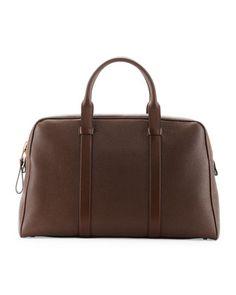 Buckley Men\'s Zip Small Duffle Bag, Light Brown  by TOM FORD at Bergdorf Goodman.