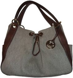ea4caa6b972fa4 Michael Kors Purse Handbag Ludlow Large Canvas Shouder Bag Hemp/Mocha:  Handbags: Amazon.com