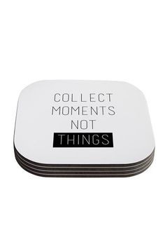 Collect Moments Not Things Coasters Set Of 4 - - Backdrop Outlet Photographer Gifts, Coaster Set, Backdrops, In This Moment, Inspired, Studio, Fun, Inspiration, Collection