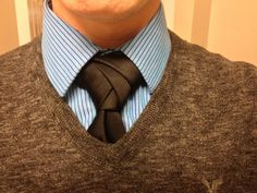 This is an Eldredge knot, found on YouTube: http://www.youtube.com/watch?v=3YznKoRMq04 Classy and makes a great conversation starter.