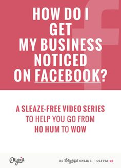 Simple, actionable tips that you can put in place on your #Facebook page to stand out as a brand: How Do I Get My Business Noticed On Facebook? a quick training video via @OlyviaMedia