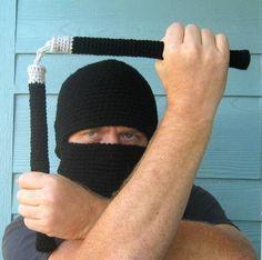 Crochet Pattern Ninja Hood and Nunchucks Amigurumi....EPIC xD