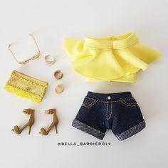 Barbie Sets, Barbie Dolls Diy, Diy Barbie Clothes, Barbie Sewing Patterns, Baby Dress Patterns, Doll Clothes Patterns, Barbie Sisters, Barbie Family, Barbie Chelsea Doll