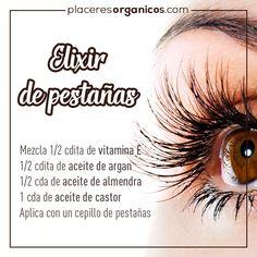 elixir of long eyelashes natural beauty- elixir de pestañas largas belleza natural elixir of long eyelashes natural beauty - Beauty Make Up, Beauty Care, Beauty Skin, Skin Tips, Skin Care Tips, Beauty Secrets, Beauty Hacks, Beauty Tips, Body Hacks