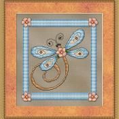 Blue Dragonfly Cross Stitch - via @Craftsy