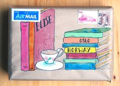 Books & tea and lots more beautiful mail art envelopes