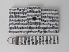 Bifold Wallet with Snap Closure and Key Fob Set by SunflowerTotes, $47.00