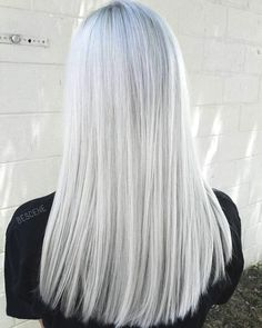 Silver Hair Color Ideas and Tips for Dyeing, Maintaining Your Grey Hair Granny Silver/ Grey Hair Color Ideas: White Gray HairGranny Silver/ Grey Hair Color Ideas: White Gray Hair Beauté Blonde, White Blonde Hair, Platinum Blonde Hair, Gray Hair, Platinum Grey, Ombre Hair, Silver White Hair, Hair Color Gray Silver, Long White Hair