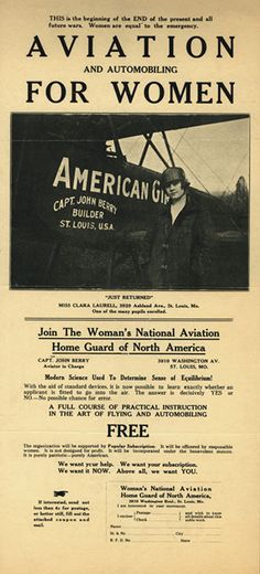 Women's National Aviation Home Guard  WWI