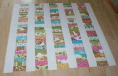 Moda Bake Shop: Stacked Coins Baby Quilt  (This would be a quick easy quilt for my next charity quilt)