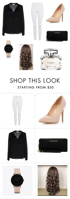 """""""Untitled #106"""" by sadiecoda on Polyvore featuring Topshop, Dorothy Perkins, Milly, MICHAEL Michael Kors, CLUSE and Gucci"""