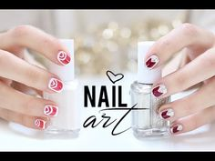 49 Diseños de Uñas Divertidos, tiernos, bonitos y fáciles Manicure Y Pedicure, Make Up, Nail Art, Nails, Hair Styles, Youtube, Fashion, Red And White Nails, Black Nails