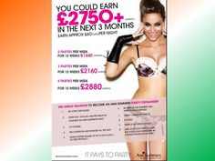 You could earn £2,750+ in the next 3 months!! Become a party planner! Contact me today for details! 07926 194709 or o.annsummers@outlook.com