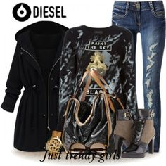 diesel clothing, sweater, back to school outfit