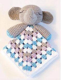 Elephant Snuggle Blankie Free Crochet Pattern