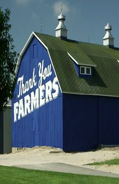 This gorgeous blue barn is located on Hwy 151 near Beaver Dam, WI. It is Culver Restaurants way of saying thank you to the farmers.