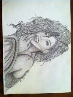 Drawing of Rihanna
