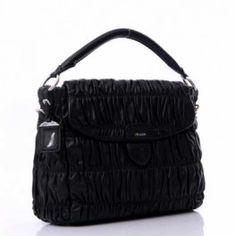 6042e508fa58 ... ireland prada gaufre leather large shoulder bag br4732 black  eshoppedeals 55f42 7474b