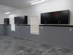 Manly Paint For Garage With Half Wall Grey And Other Half White                                                                                                                                                                                 More