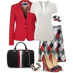 Business Look in Argyle by yasminasdream on Polyvore featuring Marella, Strenesse Blue and Brooks Brothers