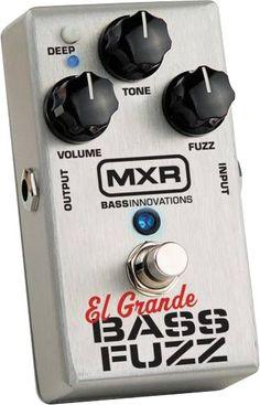 MXR M182 El Grande Bass Fuzz Pedal Bass Pedals, Guitar Pedals, Low End, Bass Amps, Guitar Shop, Guitar Effects Pedals, Pedalboard, Fuzz, Instruments