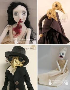 Not all dolls are for children – as evidenced by the incredibly bizarre and amazing art dolls, puppets and sculpture of these 15 artists. Creepy Halloween Props, Creepy Hand, Creepy Dolls, Doll Parts, Handmade Dolls, Box Art, Bjd, Amazing Art, Surrealism