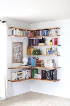Brackets and Shelves makes a great corner work space
