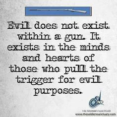 The first murder was committed with a rock. Shall we ban all rocks? After all, there are a lot more rocks in the world than guns. Let's deal with the real problem: evil in the hearts of small minded people!
