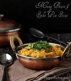 Mung Bean Dal and Pigeon Pea Stew. Mung Aur Toor Daal. Vegan Glutenfree Recipe - Vegan Richa