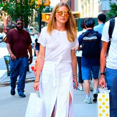 Como ser chic usando look branco total