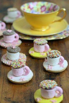 Marshmallow teacups