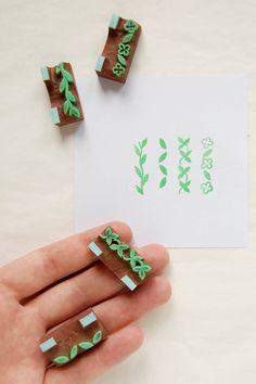 #stamps #rubberstamps #handcarved #woodland #WoodlandTale #leaf #scrapbooking #botanical